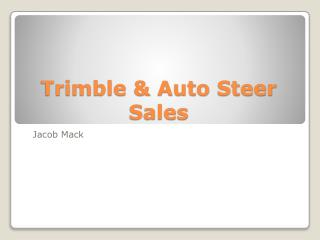 Trimble & Auto Steer Sales