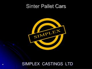 Sinter Pallet Cars