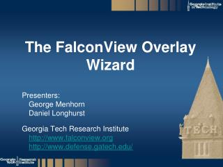 The FalconView Overlay Wizard