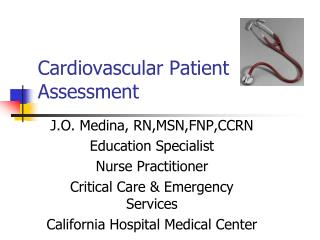 Cardiovascular Patient Assessment