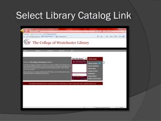 Select Library Catalog Link