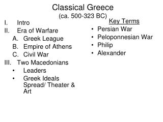 Classical Greece (ca. 500-323 BC)