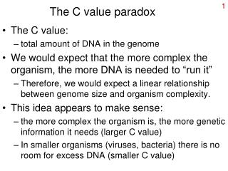 The C value paradox