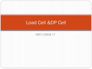 Load Cell &DP Cell