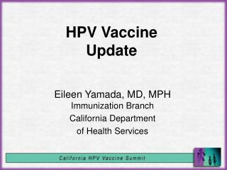 HPV Vaccine Update