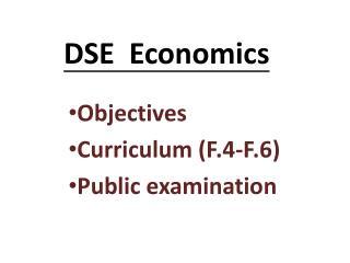 DSE  Economics