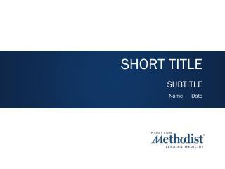 SHORT TITLE