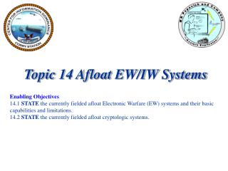 Topic 14 Afloat EW/IW Systems Enabling Objectives