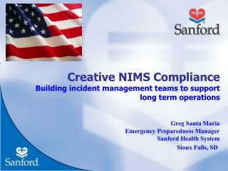Creative NIMS Compliance Building incident management teams to support  long term operations