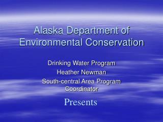 Alaska Department of Environmental Conservation