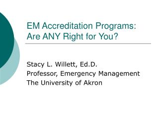EM Accreditation Programs: Are ANY Right for You?