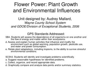 Flower Power: Plant Growth  and Environmental Influences