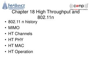 Chapter 18 High Throughput and 802.11n