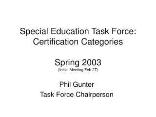 special education task force: