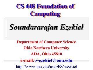 CS 448 Foundation of Computing