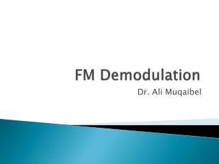 FM Demodulation