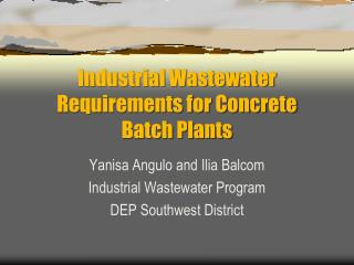 Industrial Wastewater Requirements for Concrete Batch Plants