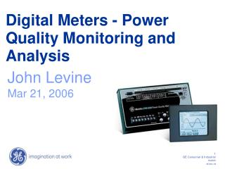 Digital Meters - Power Quality Monitoring and Analysis