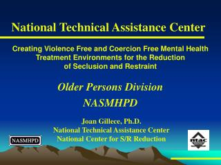Older Persons Division NASMHPD