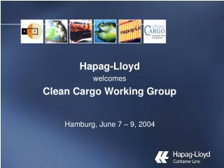 Hapag-Lloyd welcomes Clean Cargo Working Group