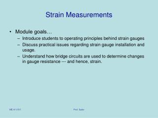 Strain Measurements