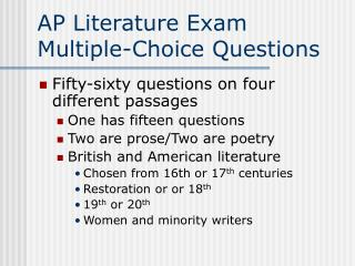 AP Literature Exam Multiple-Choice Questions