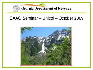 GAAO Seminar – Unicoi – October 2009
