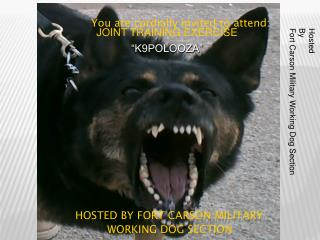 hosted by Fort Carson MILITARY 					WORKING DOG SECTION