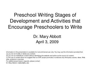 Preschool Writing Stages of Development and Activities that Encourage Preschoolers to Write