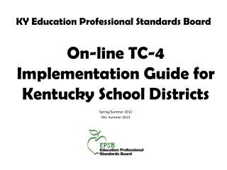 KY Education Professional Standards Board
