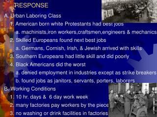 IX. LABOR, WORKING CONDITIONS & RESPONSE