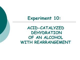 Experiment 10: