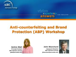 Anti-counterfeiting and Brand Protection ABP Workshop