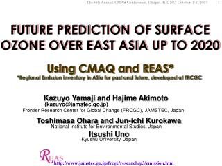 FUTURE PREDICTION OF SURFACE OZONE OVER EAST ASIA UP TO 2020