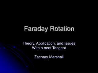 Faraday Rotation