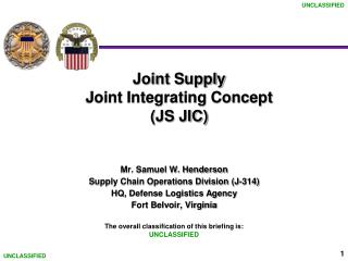 Joint Supply Joint Integrating Concept            (JS JIC)