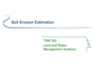 Soil Erosion Estimation