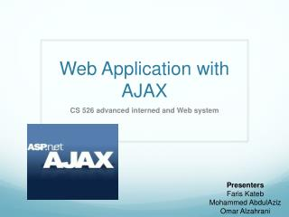 Web Application with  AJAX