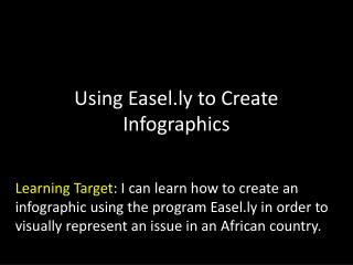 Using Easel.ly to Create Infographics