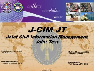 J-CIM JT Joint Civil Information  Management  Joint Test