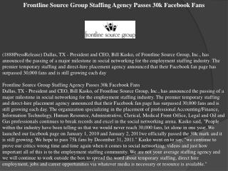 frontline source group staffing agency passes 30k facebook f