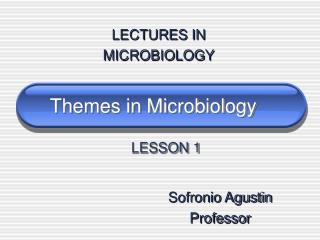 Themes in Microbiology