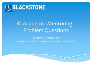 JD Academic Mentoring – Problem Questions