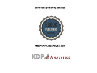 Self eBook publishing services