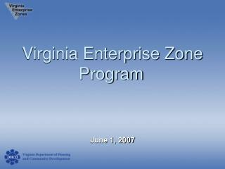 Virginia Enterprise Zone Program