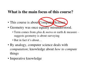 What is the main focus of this course?