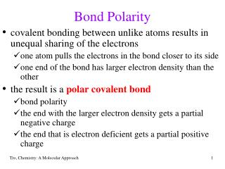 Bond Polarity