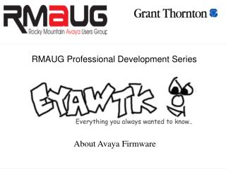 RMAUG Professional Development Series