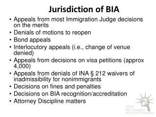 Jurisdiction o f  BIA