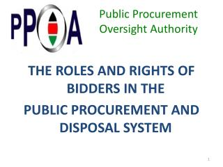 Public Procurement  Oversight Authority